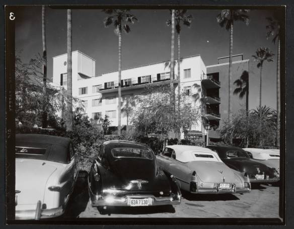 Beverly Hills Hotel, Addition, Beverly Hills, 1950 ~ Williams, Paul R., and Grey. Elmer, Architects