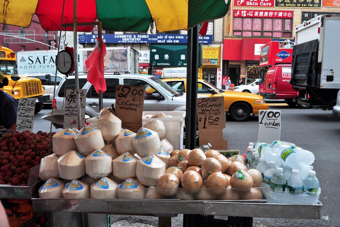 Sidewalk Shopping Chinatown Nyc Marina Chetner