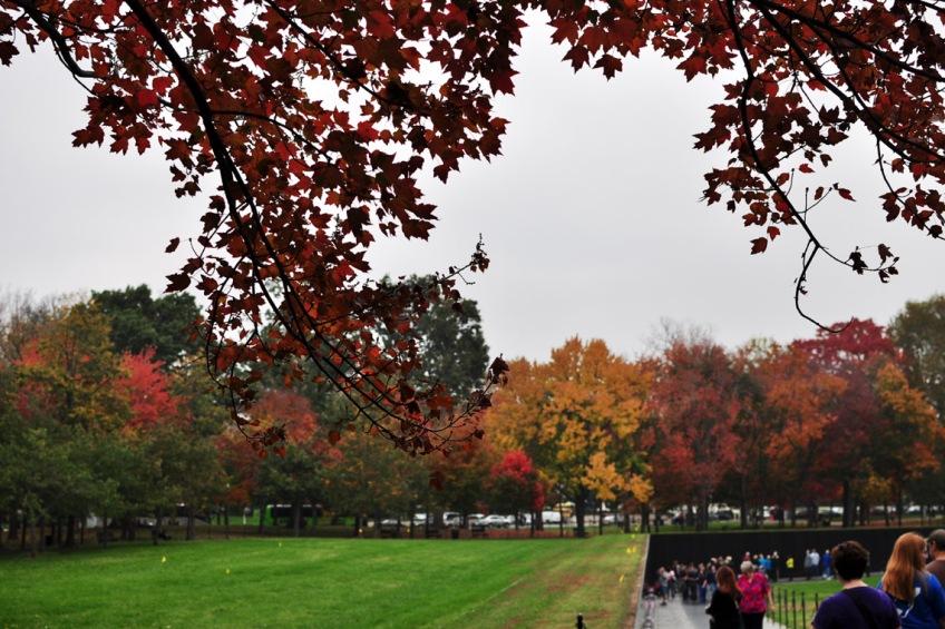 Looking towards the Vietnam Veterans Memorial