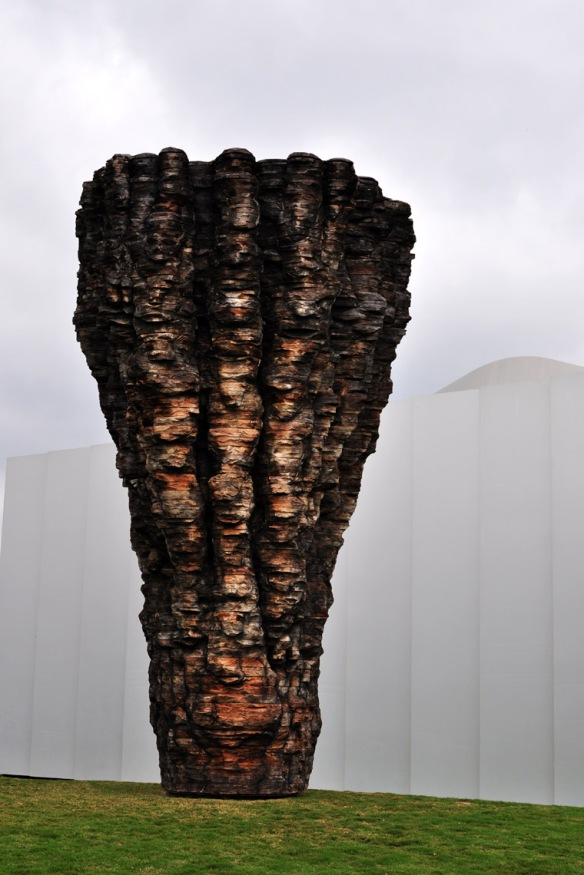Art in Image: Ogramma, Cedar and graphite, by Ursula von Rydingsvard