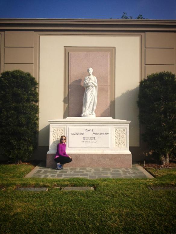 At Forest Lawn Cemetery, at the Bette Davis Memorial