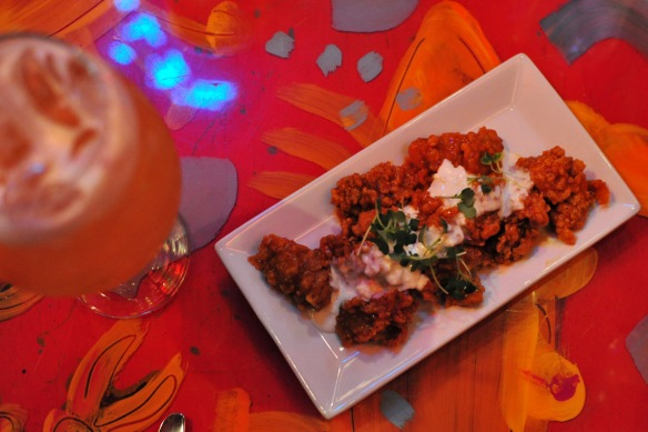 Flash fried Oysters with Blue Cheese Dressing