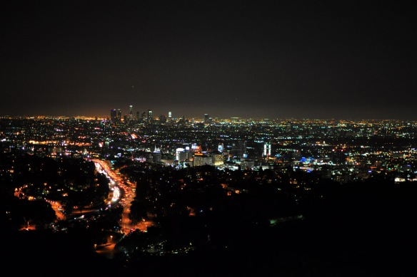 Overlooking LA from Mulholland Drive