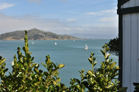 Views from Sausalito -  joined to San Francisco by the Golden Gate Bridge