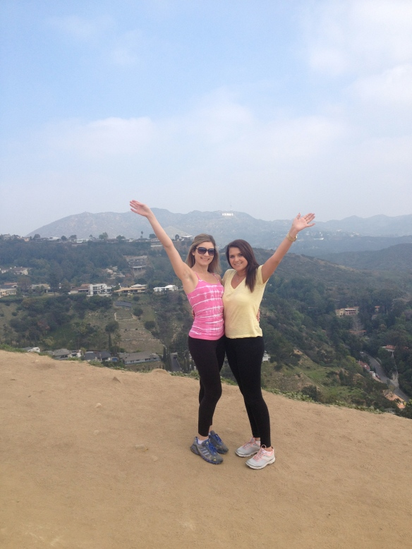 Feeling on top of the world at Runyon Canyon that overlooks LA's downtown