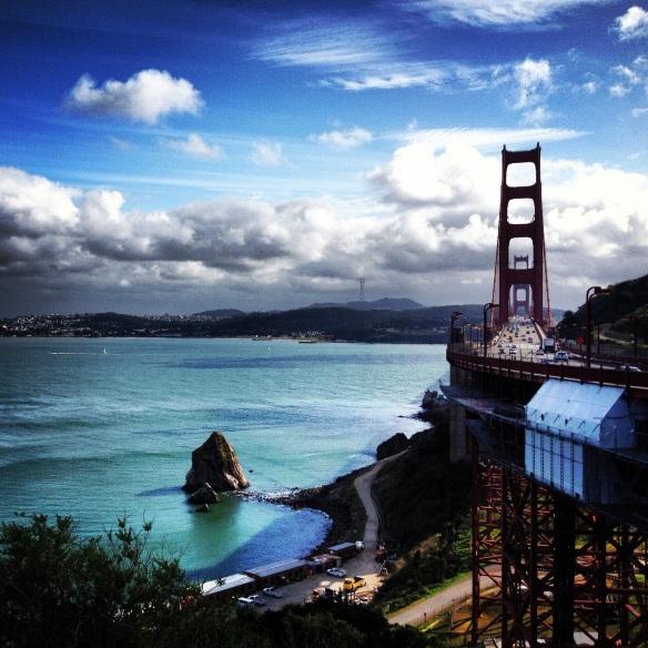 Golden Gate Bridge via iphone