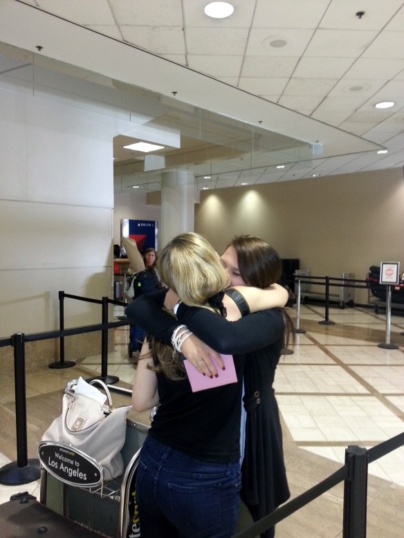 Sisters reunited after nearly 2 years. At LAX.
