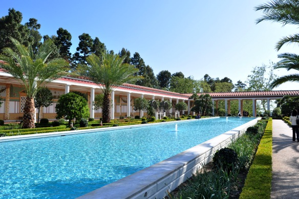 The grand pool at The Getty Villa