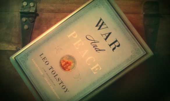 My heavy copy of War and Peace, waiting to be read...