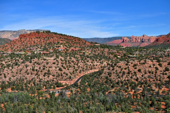 View over Sedona from Cathedral Rock