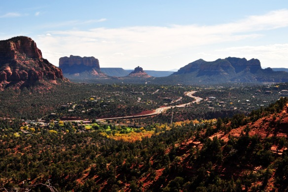 You can also hike around Bell Rock, in distance