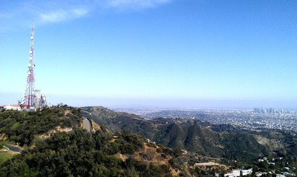 Looking towards the Hollywood Sign