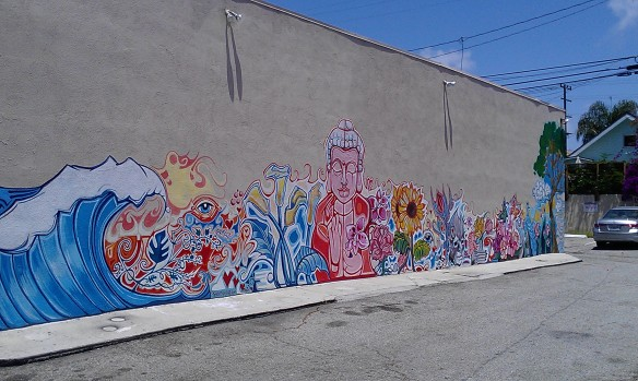 Side street mural in Venice Beach
