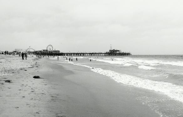 Santa Monica Pier in the distance