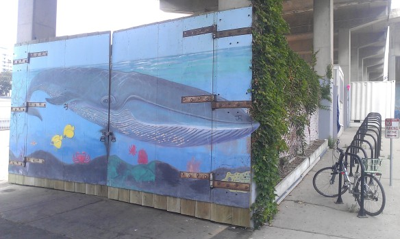 A mural underneath the Pier