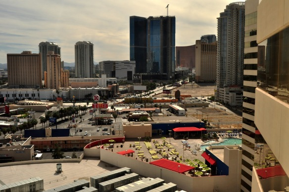 The view of where the SLS Las Vegas will be located