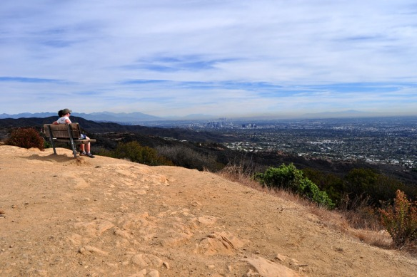 Looking over LA and the Pacific Ocean from Topanga