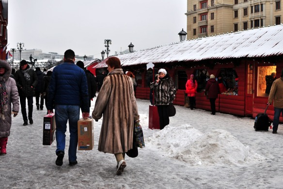 At the holiday markets in the Red Square
