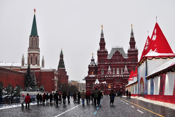 Whatever is left of the Red Square during the holiday season.