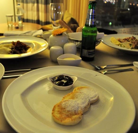 Syrniki from Swissotel Krasnye Holmy restaurant, Acapella