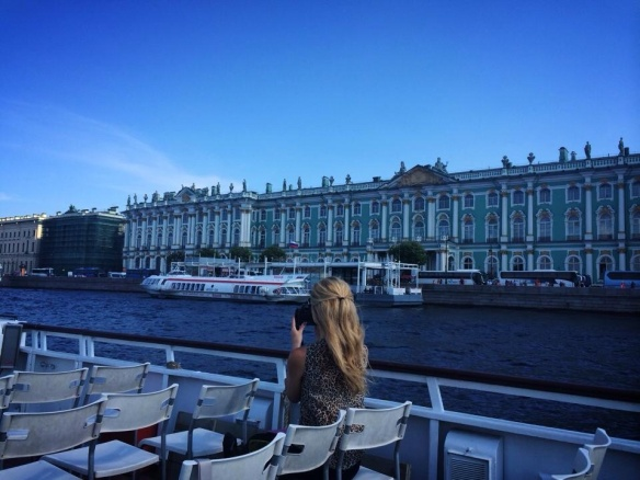 My sister took this photo of me in St Petersburg, Russia.