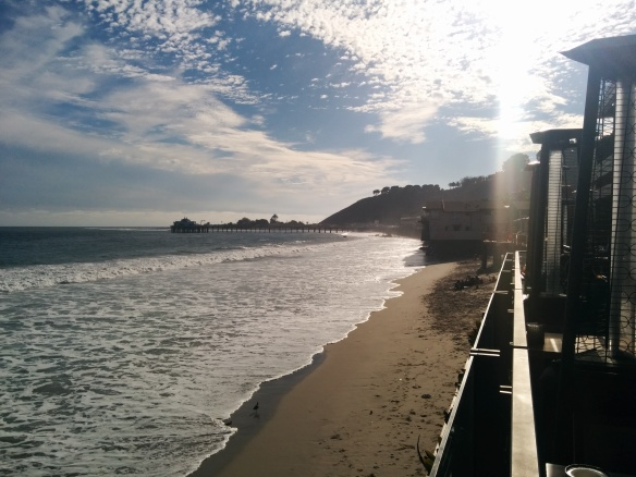 The view of Malibu Pier from Nikita restaurant