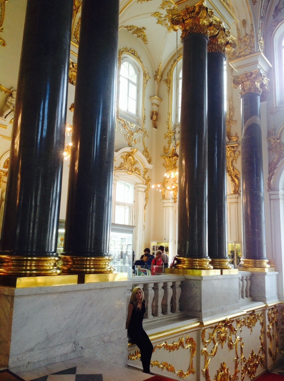 Me, dwarfed by the palatial Hermitage