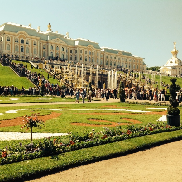 The grand Petrodvoretz, the Tsar's Summer Palace
