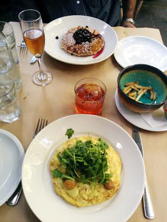 Frittata and pancakes