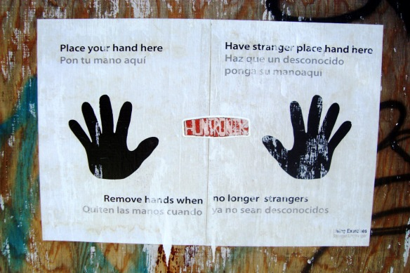Pasted poster, Williamsburg, Brooklyn, 2012