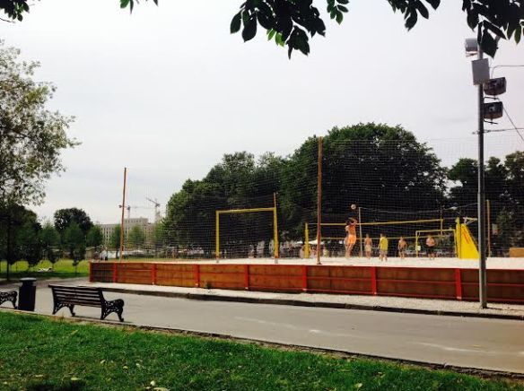 Volleyball at Gorky Park