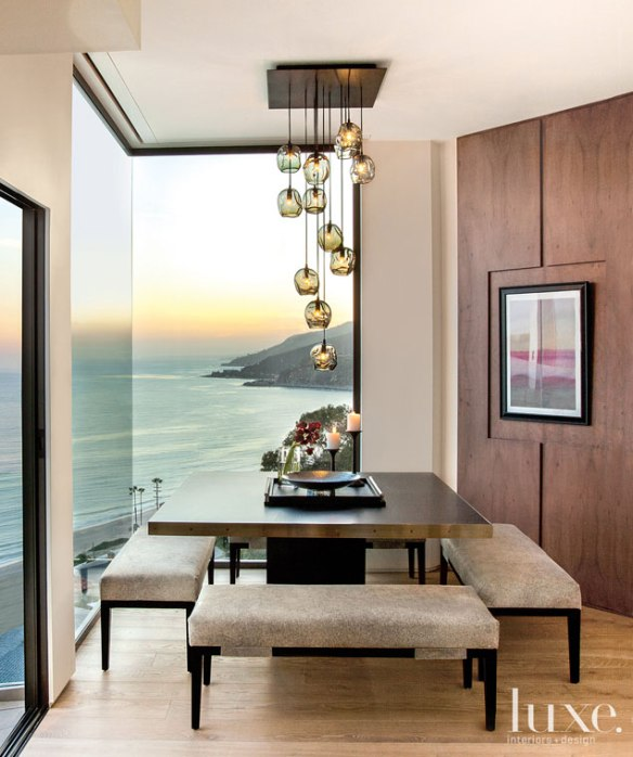 A dining room in a Pacific Palisades home. PIN by Vickie Lucas Hafer.