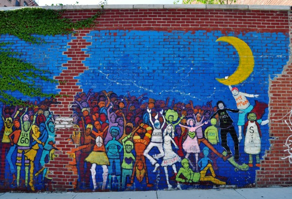 Street art in Williamsburg, Brooklyn, April 2012