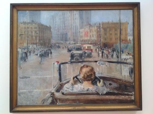 Art in New Tretyakov: The New Moscow (1027) by Yuri Pimenov