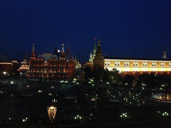 The moonlit Red Square