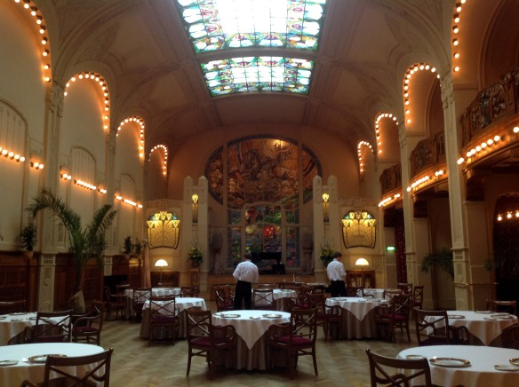 Restaurant in the Belmond Grand Hotel Europe