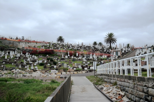 The clifftop Waverly Cemetery has waterfront views.