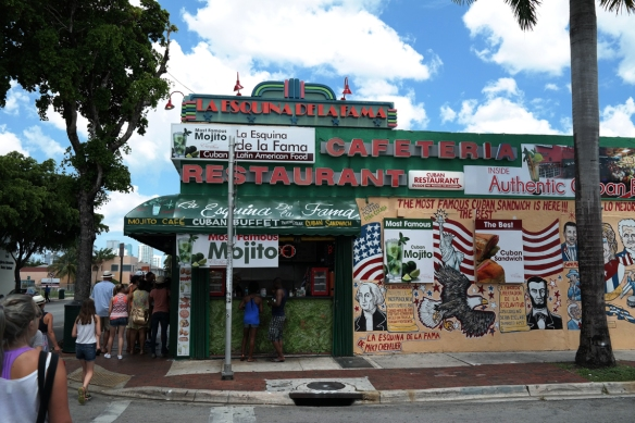 Along Calle Ocho in Little Havana, about 10 minutes away from downtown