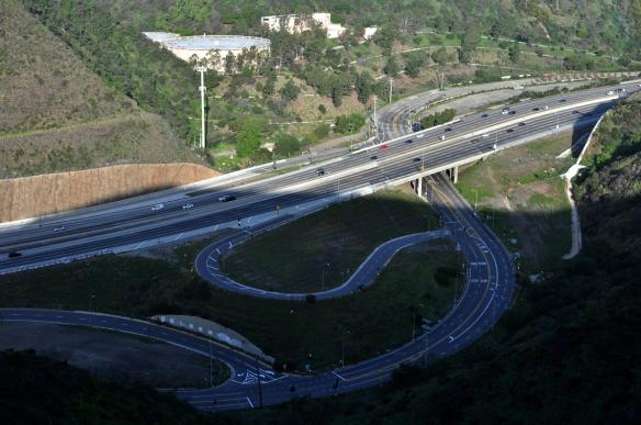 Matchbox cars on the 405 freeway