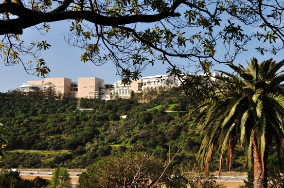 Views of the Getty Center on Casiano Road, heading back to the 405.